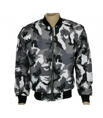 Gray Camo Bomber jacket