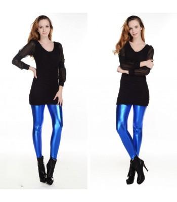 Leggings metallic blå