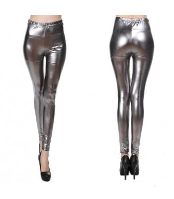 Leggings metallic grå