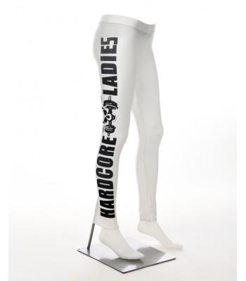 Leggings vita med svart text