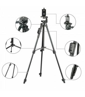 Kamerastativ för Smartphone eller actionkamera, 43-120cm Bluetooth