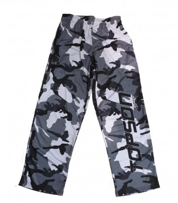 Men's Mesh Fitness Gym Pants Gray Camo