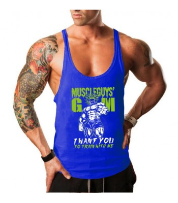 Tank Top Muscleguy Blue