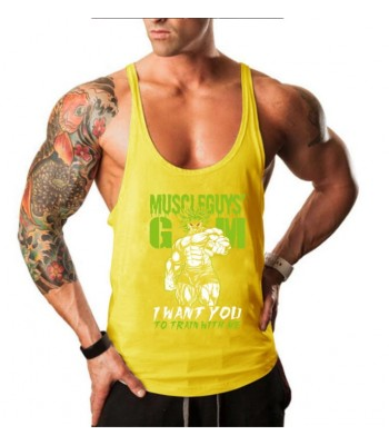 Tank Top Muscleguy Yellow