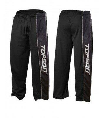 Men's Mesh Fitness Gym Pants Black with stripes