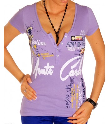 T-shirt design women Monte Carlo purple
