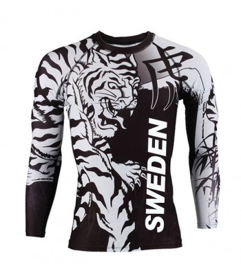 Sweden Long Sleeve T-shirt Black & White