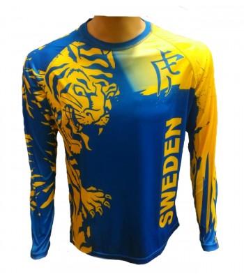 Sweden Long Sleeve T-shirt Blue & Yellow