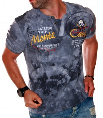 T-shirt design Monte Carlo gray