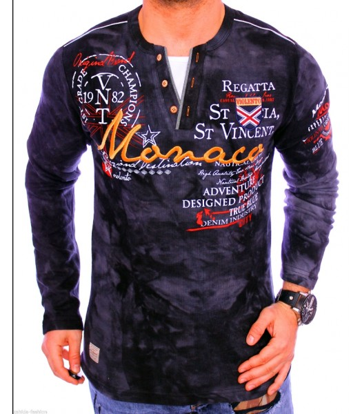 T-shirt violento design Monaco Black