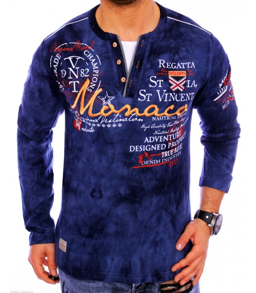 T-shirt violento design Monaco dark blue