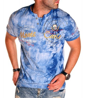 T-shirt design Monte Carlo Blue