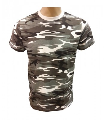 T-shirt Gray Camouflage with army print